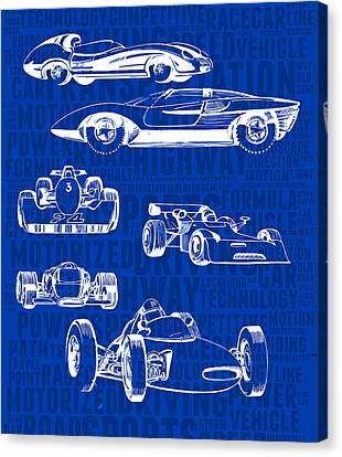 Concept-art Of Sports Cars Canvas Print