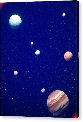 Conceptualized Solar System Canvas Print by Panoramic Images
