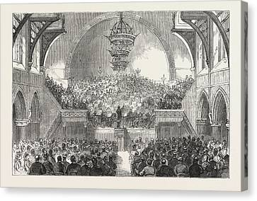 Concert By The United Sunday School Choir At Plymouth Canvas Print