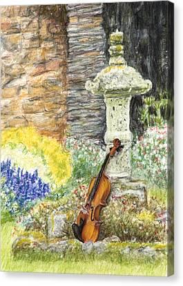 Concert Dans Le Jardin Canvas Print by Kate Sumners