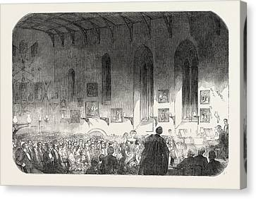 Concert In The Hall Of University College Canvas Print
