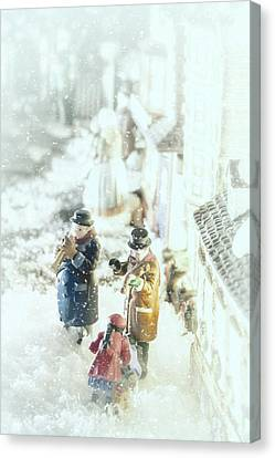 Musicos Canvas Print - Concert In The Snow by Caitlyn  Grasso