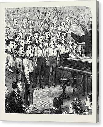 Concert Of Boys In The Mars Training Ship Dundee Canvas Print