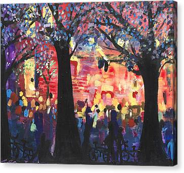 Concert On The Mall Canvas Print by Leela Payne