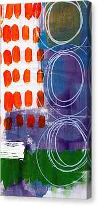 Concerto One - Abstract Art Canvas Print by Linda Woods