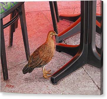 Canvas Print featuring the painting Conch Chicken by Bob  George