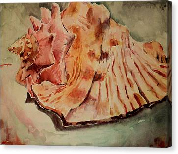 Canvas Print featuring the painting Conch Contours by Jeffrey S Perrine