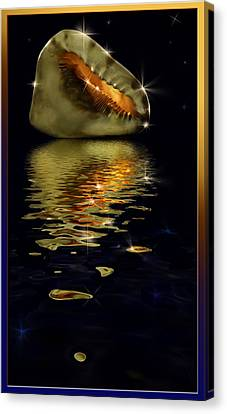 Conch Sparkling With Reflection Canvas Print by Peter v Quenter