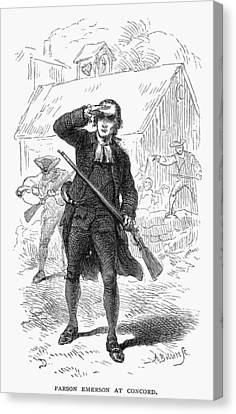 Concord: Minuteman, 1775 Canvas Print by Granger
