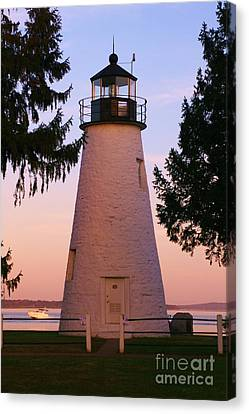 Concord Point Lighthouse Canvas Print by Mark  Wall