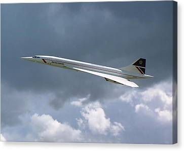 Canvas Print featuring the photograph Concorde 01 by Paul Gulliver