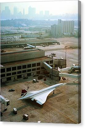Concorde At An Airport Canvas Print by Us National Archives