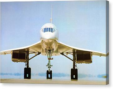 Concorde On Airport Runway Canvas Print by Us National Archives