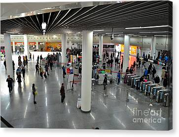 Concourse At People's Square Subway Station Shanghai China Canvas Print by Imran Ahmed