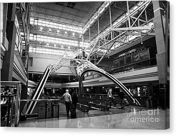 concourse B at Denver International Airport Colorado USA Canvas Print by Joe Fox