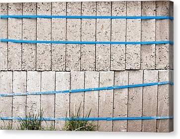 Concrete Blocks Canvas Print by Tom Gowanlock