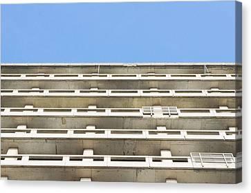 Concrete Building Canvas Print by Tom Gowanlock