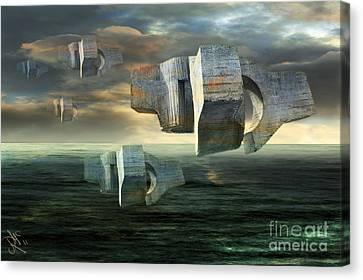 Concrete Clouds Chillida Canvas Print by Rosa Cobos