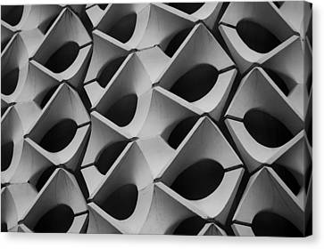 Concrete Facade - Chemnitz Canvas Print by Peter Cassidy