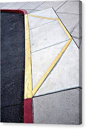 Concrete Quilt Canvas Print by Lin Haring