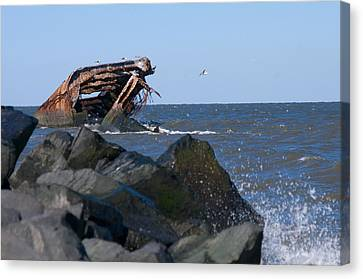 Canvas Print featuring the photograph Concrete Ship by Greg Graham
