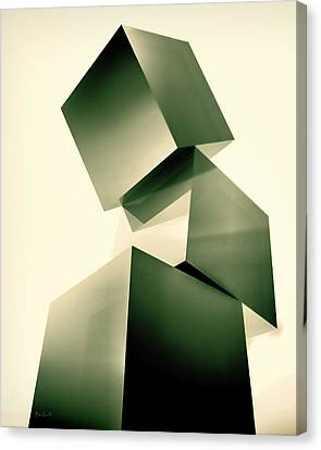 Condescending Cubes Canvas Print by Bob Orsillo