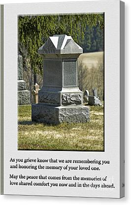Canvas Print - Condolence Photo Greeting Card by Andrew Govan Dantzler