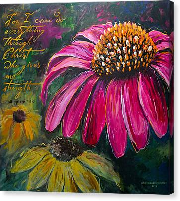 Coneflower Canvas Print by Lisa Fiedler Jaworski