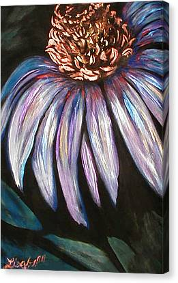 Abstracted Coneflowers Canvas Print - Coneflower Painting by Art By Lisabelle