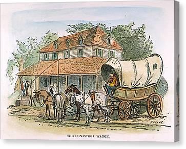 Conestoga Canvas Print - Conestoga Wagon, 19th C by Granger