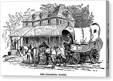 Conestoga Canvas Print - Conestoga Wagon by Granger