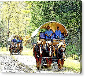 Conestoga Wagons Canvas Print by A Gurmankin