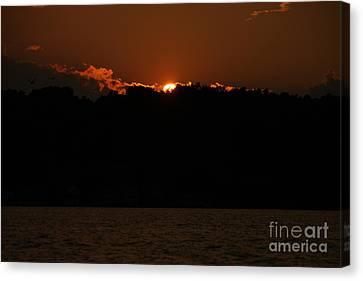 Conesus Lake At Dusk Canvas Print by Steve Clough