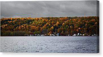 Conesus Lake Autumn Canvas Print