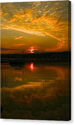 Conesus Sunrise Canvas Print