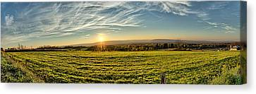 Farm Canvas Print - Conewango Sunset by Chris Bordeleau