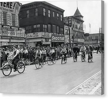 Coney Island - Bicycles Canvas Print