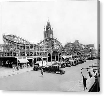 Coney Island - Bobs Tornado Roller Coaster Canvas Print by MMG Archives