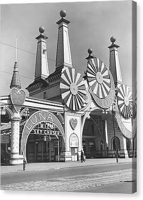 Coney Island - Luna Park Entrance Canvas Print by MMG Archives
