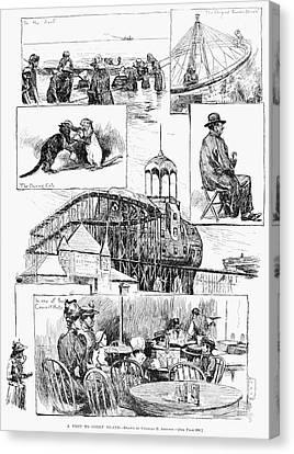 Coney Island, 1891 Canvas Print by Granger