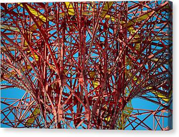 Coney Island Abstract Expressionist Canvas Print by Steven Richman