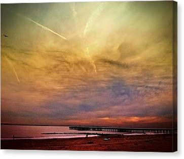Coney Island After Sandy Canvas Print by Frank Winters