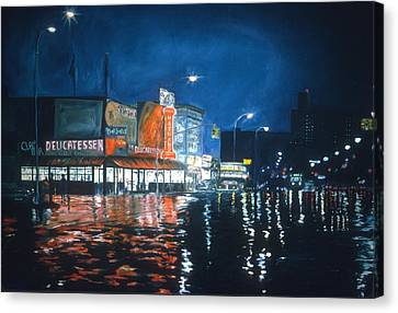 Poppy's Cafe, Greenwich Village, 1983  Canvas Print