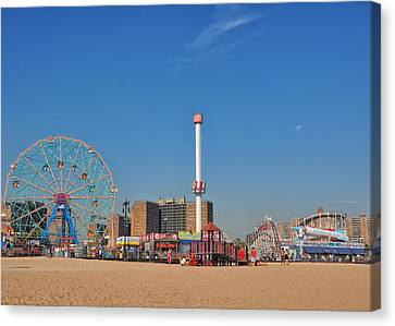 Coney Island Astroland Canvas Print