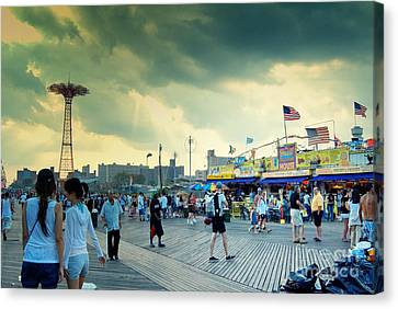 Coney Island Brooklyn New York City Canvas Print by Sabine Jacobs