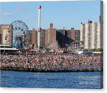 Canvas Print featuring the photograph Coney Island by Ed Weidman