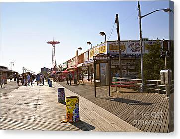 Coney Island Memories 8 Canvas Print by Madeline Ellis