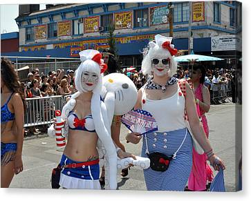 Coney Island Mermaid Parade Canvas Print by Diane Lent