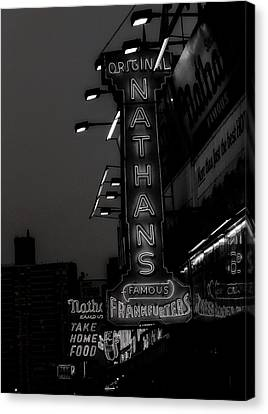 Coney Island Noir Canvas Print by Jon Woodhams