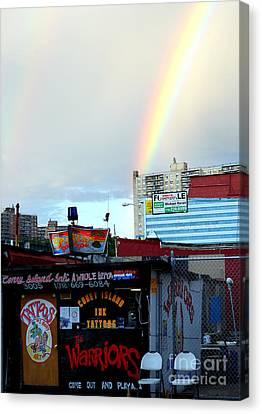 Coney Island Rainbow Canvas Print by Robert Riordan
